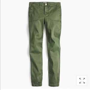 "JCREW 9"" Ankle toothpick jeans in green size 27"
